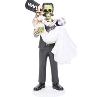 Frankenskull And Bride Figurine