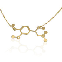 Adrenaline molecule - Silver | Adrenaline necklace | science jewelry | chemistry necklace- unique necklace Epinephrine necklace