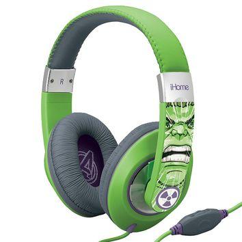 iHome Marvel The Incredible Hulk Character Headphones VI-M40HK.FX