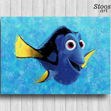 finding dory print disney wall art finding nemo decor pixar art finding dory favors