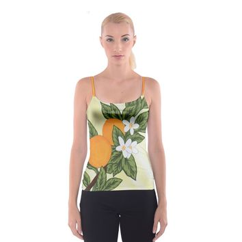 Orange Blossoms Spaghetti Strap Top