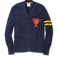 Letterman Cardigan-Navy