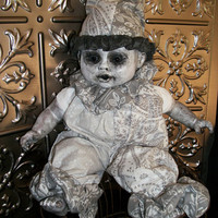 Lonesome Milky Doll Monster Altered Art Creepy Horror Prop Scary Fantasy Salvage Haunting Dead Repurposed