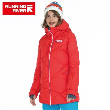 RUNNING RIVER Brand High Quality Women Down Snowboard Jacket 5 colors 6 Sizes Hooded Winter Warm Outdoor Sports Jackets #A5002