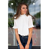 Tea Party Woven Top : Ivory