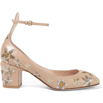 Valentino - Tango embellished leather pumps