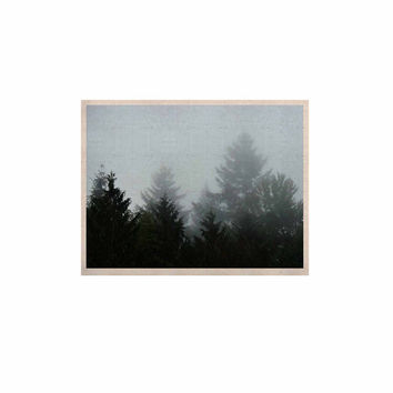 "Robin Dickinson ""Welcome to Earth"" Mist Forest KESS Naturals Canvas (Frame not Included)"