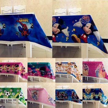 Minions/Trolls/Avengers Happy Birthday Party Supplies Disposable Plastic Table Cloths/Covers Baby Shower Christmas Decorations