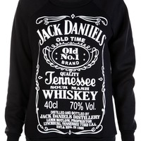 Black Jack Daniells Sweat Shirt - Womens Clothing Sale, Womens Fashion, Cheap Clothes Online | Miss Rebel
