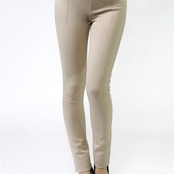 Penelope Skinny Ponte Pants with Wide Waist Band (2 Colors Available)