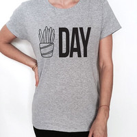 Fries day Tshirt Fashion funny slogan womens girls sassy cute work out gym humor graphic tees gift idea