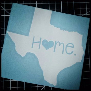 Texas Home Decal | Texas Decal | Homestate Decals | Love Sticker | Love Decal  | Car Decal | Car Stickers | 083
