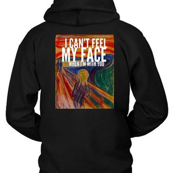 ESBH9S The Weeknd I Cant Feel My Face When I Am With You Illustrations Hoodie Two Sided