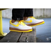 Nike Air Force 1 Low Canvas AF1 Sneaker ¡°Yellow&Brown¡±AJ7282-002