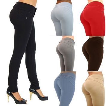 Women Hot Sexy High Waist Skinny Leggings Stretch Jeggings Pencil Pants Trousers = 5709384833