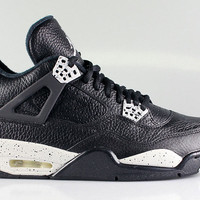 Air Jordan Men's 4 IV LS Retro Oreo 2015 Remastered