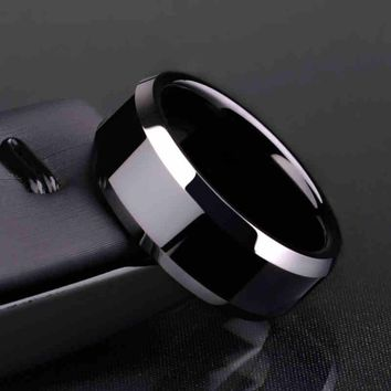 Black Silver Gold Casual Fashion Men's Women's Titanium Ring