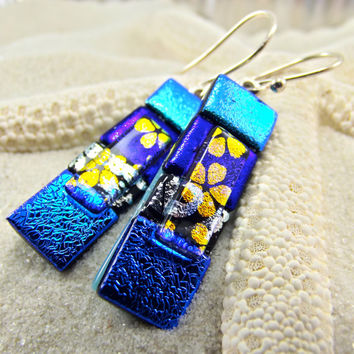 Aura Oria Dichroic Earrings