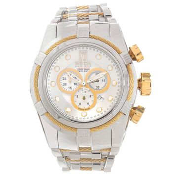 Invicta 16003 Men's Jason Taylor Bolt Zeus MOP Dial Silver Steel Chronograph Dive Watch
