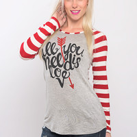All You need is Love Tee - Red