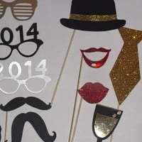 NEW YEARS photo booth props 2014 fast shipping