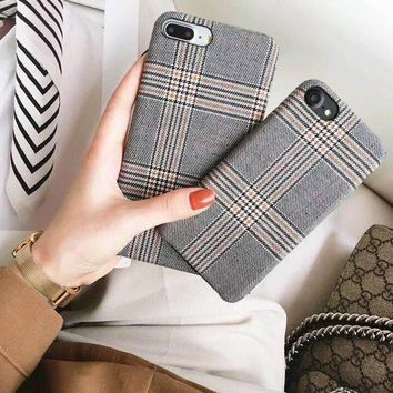 Cloth Grid Phone Case for iPhone
