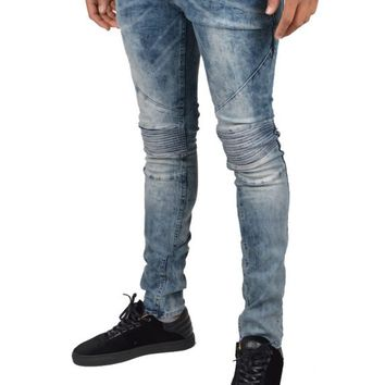 RELIGION CLOTHINGCRYPT BIKER JEANS - BLUE