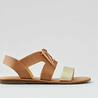 AEO Lace-Up Slingback Sandal , Natural
