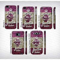 Keep Calm and Love Justin Bieber  iPhone 5 4 3  by caseaddiction