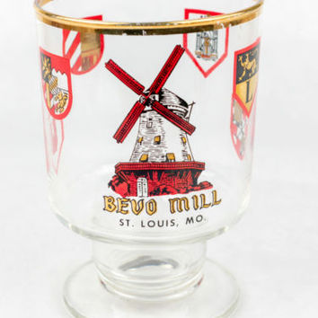 Bevo Mill Vintage Bar Glass Beer Glass St Louis Missouri Anheuser-Busch