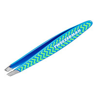 Tweezerman Mini Slant Chevron Tweezers (Blue)