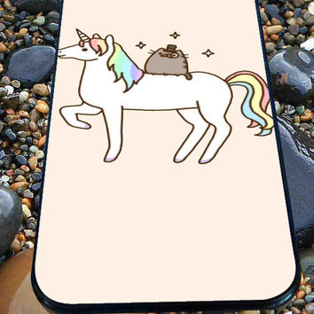 Pusheen Cat With Unicorn for iPhone 4/4s, iPhone 5/5S/5C/6, Samsung S3/S4/S5 Unique Case *76*