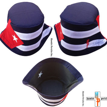 Cuba Flag Unisex Bucket Hat   Cuban Hat   Country Hat   Island   Caribbean   Sun Hat   Red, White, Blue Hat by Hamlet Pericles   HP22316b