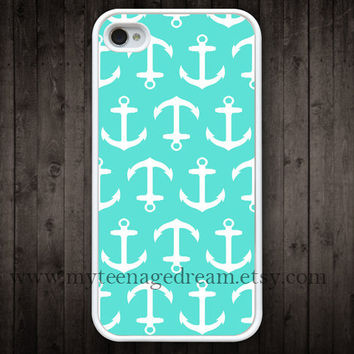 iPhone 4 Case iphone 4s case anchor mint green by MyTeenageDream