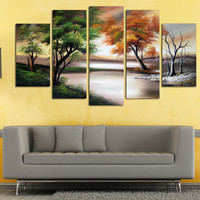 Design Art 'Changing Seasons' Canvas - Large Nature Wall Art | Overstock.com Shopping - The Best Deals on Canvas