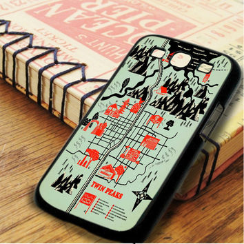 Twin Peaks Map Samsung Galaxy S3 Case