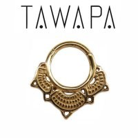 16g Tawapa 14k Gold Lotus Nose Nostril Septum Ring [TawapaGoldLotus16g] - $120.99 : Diablo Body Jewelry, The Art of High Quality