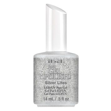 IBD Just Gel Nail Polish, Silver Lites, 0.5 Fluid Ounce