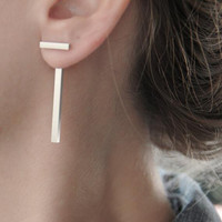 Simple Fashion T Shape Earrings