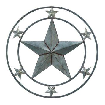 Cast Iron Galvanized Star Wall Decor