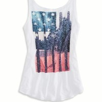 AEO Women's Faded Flag Tank (Wh
