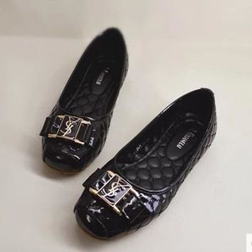 YSL Slip-On Women Fashion Leather Flats Shoes