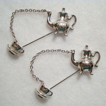 Avon Teapot Cup Stick Pin Lapel Pin - 1 or 2 Available - Cute Figural Jewelry
