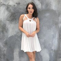 Summer Fun White Shift Dress
