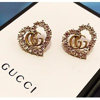 GUCCI New fashion diamond love heart earring
