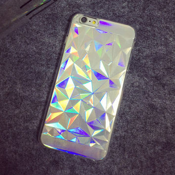 Geometrical refraction mobile phone case for iphone 5 5s SE 6 6s 6 plus 6s plus + Nice gift box 072701