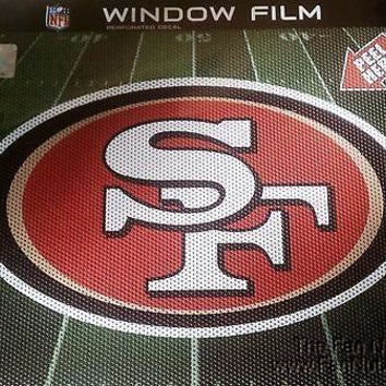 "San Francisco 49ers 12"" Large Auto Window Film One-Way Vision Decal Football NEW"