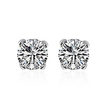 Swarovski Crystal Stud diamond cut Earring in White Gold Plated c21fd00df16a