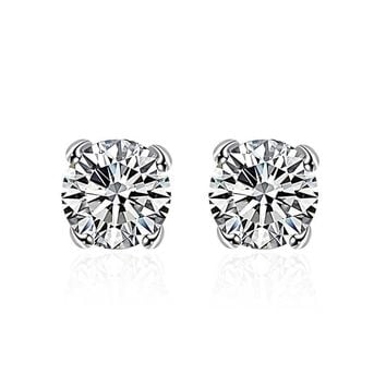 Swarovski Crystal Stud diamond cut Earring in White Gold Plated 7f0c7e1f9