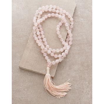 High-Energy Rose Quartz Mala